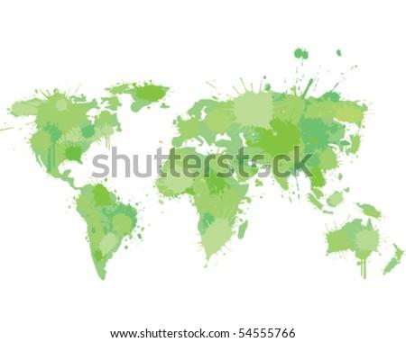 World map graffiti vectores en stock 54555766 shutterstock world map graffiti gumiabroncs Choice Image