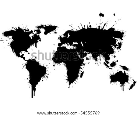 World map graffiti black vector de stock54555769 shutterstock world map graffiti black gumiabroncs Images