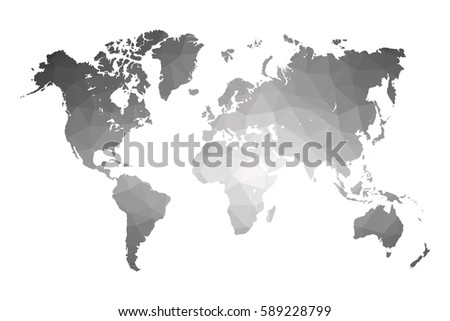 World map gray vector illustration polygonal vectores en stock world map gray vector illustration in polygonal style on white background vector illustration eps 10 gumiabroncs Gallery