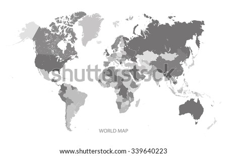 World map grey scale illustration vector stock vector 339640223 world map grey scale illustration vector gumiabroncs Image collections