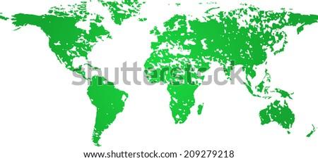 world map grunge  - stock vector