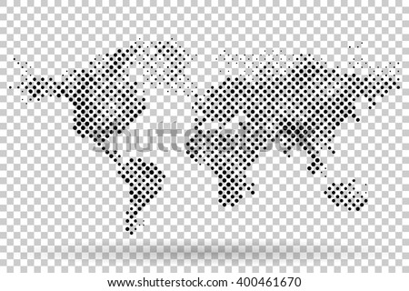 World map halftone vector template on stock vector 400461670 world map halftone vector template on transparent background gumiabroncs Images