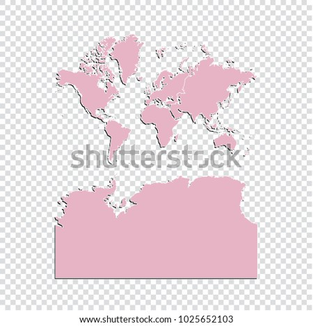 World map high detailed pastel color stock vector 1025652103 world map high detailed pastel color map of world world map isolated on transparent gumiabroncs Images