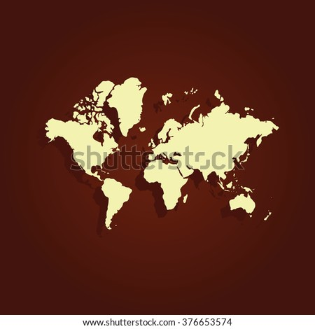 World map icon. - stock vector