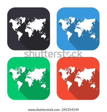 World map icon colored illustration gray stock vector 2018 world map icon colored illustration gray blue green red with gumiabroncs Image collections