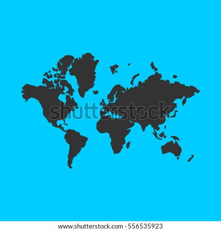 World map icon flat simple vector vectores en stock 556535923 world map icon flat simple vector black pictogram on blue background gumiabroncs Images