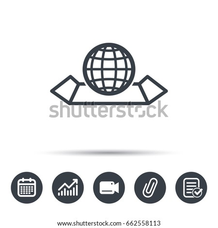 World map icon globe sign travel stock vector 662558113 shutterstock world map icon globe sign travel location symbol calendar chart and checklist gumiabroncs Gallery