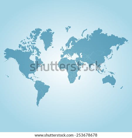 World map icon great for any use. Vector EPS10. - stock vector