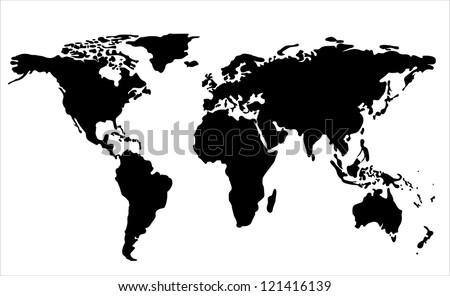 World map illustration stock vector 121416139 shutterstock world map illustration gumiabroncs Choice Image