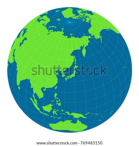 World map illustration globe sphere focus stock vector 769483150 world map illustration globe sphere focus on japan and east asia publicscrutiny Images