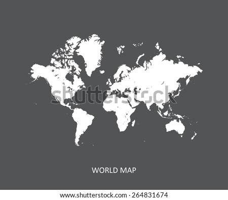 World map in an abstract background, a black and white design of world map - stock vector