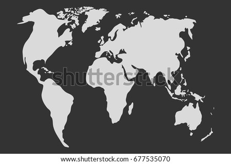 Simple world map vector stock vector 178060388 shutterstock world map in gray world map icon flat design vector illustration vector gumiabroncs Images