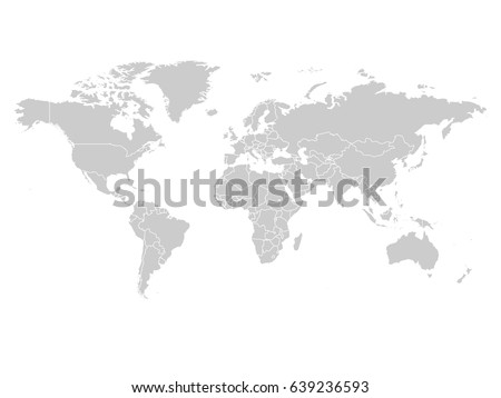 World map grey color on white vector de stock639236593 shutterstock world map in grey color on white background high detail blank political map vector gumiabroncs Images