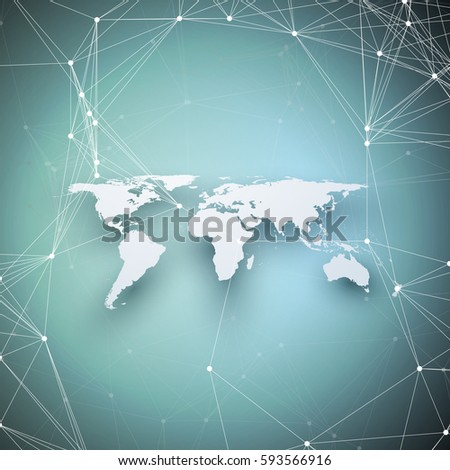 World map perspective shadow on blue stock vector 593566916 world map in perspective with shadow on blue abstract global network connections geometric design gumiabroncs Choice Image