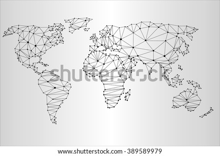 World map triangulation social map business stock vector 389589979 world map in the triangulation social map business map gumiabroncs Choice Image