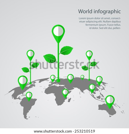 World map infographic infographics vector earth stock vector world map infographic infographics vector earth design gumiabroncs Choice Image
