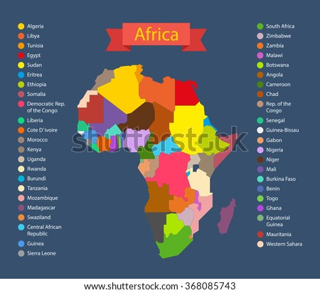 World map infographic template countries africa stock vector world map infographic template countries of africa gumiabroncs Gallery