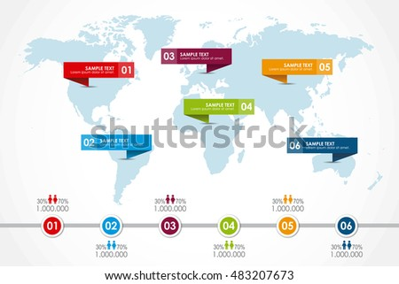 World map infographic population diagram vector stock vector hd world map infographic with population diagram vector illustration gumiabroncs Image collections