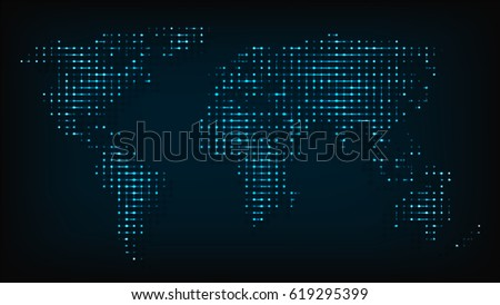 World map isolated night lights abstract stock vector hd royalty world map isolated from night lights abstract vector illustration abstract map computer round point with publicscrutiny Images