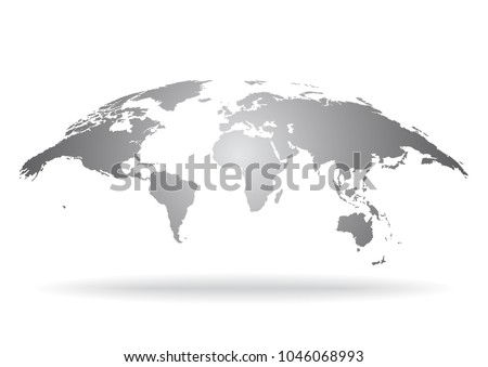 World map isolated on white background vectores en stock 1046068993 world map isolated on white background earth globe icon vector gumiabroncs Gallery