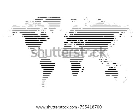 World map line.All elements are separated Abstract linear polygonal background. Vector illustration EPS 10 .