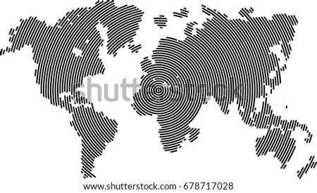 World map line vector background stock vector 678717028 shutterstock world map line vector background gumiabroncs Images