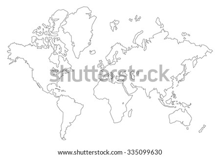 World map lines vector de stock335099630 shutterstock world map lines gumiabroncs Choice Image