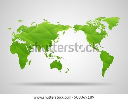 World map low poly design green stock vector 508069189 shutterstock world map low poly design green origami planet vector illustration gumiabroncs Images