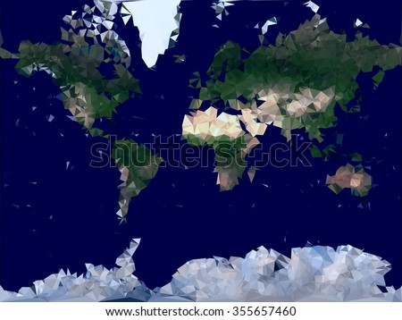 World map low poly vector illustration stock vector hd royalty free world map low poly vector illustration modern color physical global map for geographic design gumiabroncs Gallery