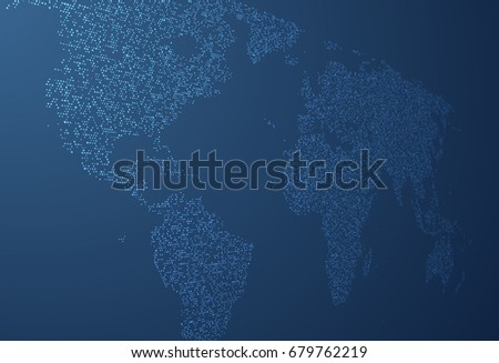 World map made dots perspective vector stock vector 679762219 world map made of dots in perspective vector background eps10 gumiabroncs Choice Image
