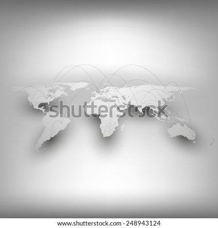 World map, network connection concept. Infographic for business design and website template. - stock vector