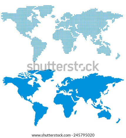 World map of dots Vector - stock vector