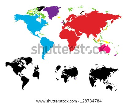 World map of vector - stock vector