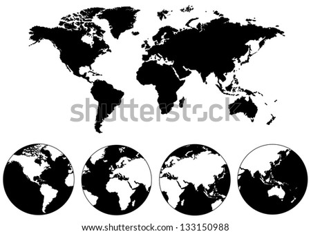 World map of vector