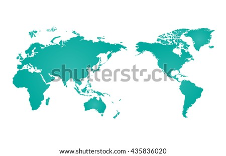 World map of vector, vector illustration - stock vector