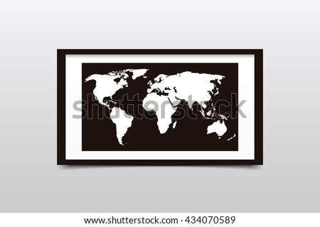 World map on black frame vector vectores en stock 434070589 world map on a black frame vector illustration gumiabroncs Images