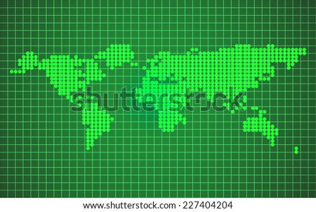 world map on green background vector