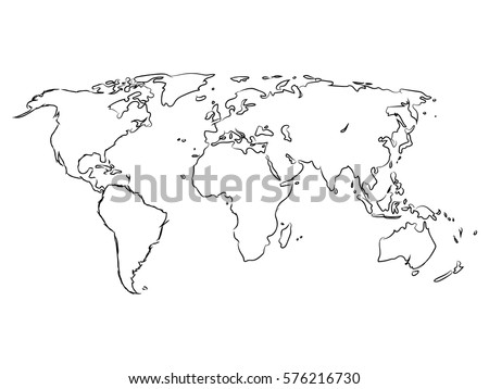 World map on hand draw stock photo photo vector illustration world map on hand to draw gumiabroncs Image collections