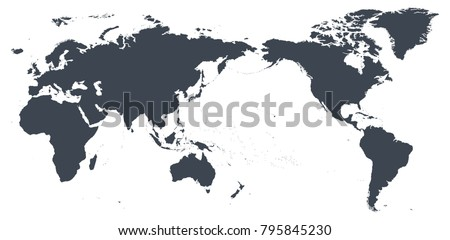 World map outline contour silhouette asia stock vector 795845230 world map outline contour silhouette asia in center vector gumiabroncs Choice Image