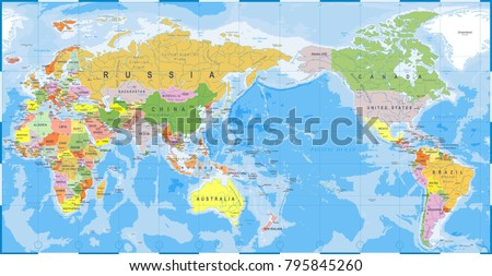 asia world map