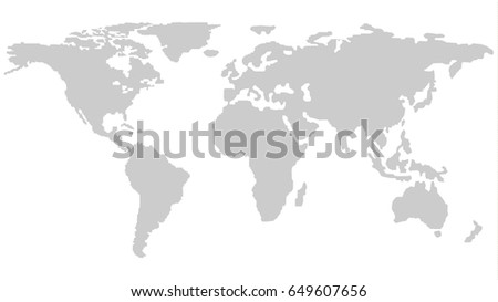 World map outline isolated on white vector de stock649607656 world map outline isolated on white background in light grey color modern web design vector gumiabroncs Gallery