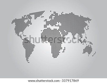 World map perspective map gray stock vector 337917869 shutterstock world map perspective map gray gumiabroncs Choice Image