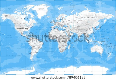World map physical white vector illustration vectores en stock world map physical white vector illustration gumiabroncs Gallery