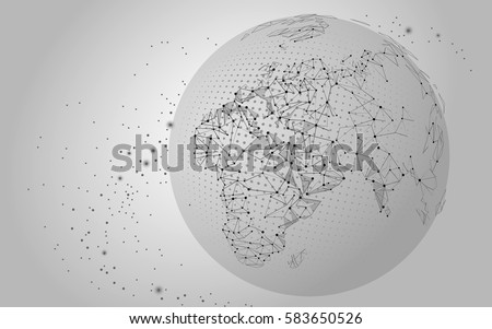 Drawing Lines In Mappoint : World map point line composition global stock vector