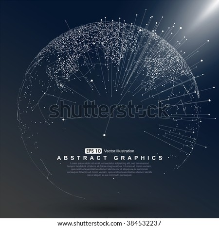 World map point, line, composition, representing the global, Global network connection,international meaning. - stock vector