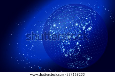 World map point line connect dots stock vector 587169233 shutterstock world map point line connect dots composition representing global network connection international gumiabroncs Image collections
