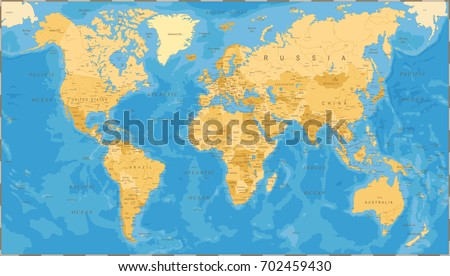 World map political vintage vector illustration stock vector world map political vintage vector illustration gumiabroncs Images