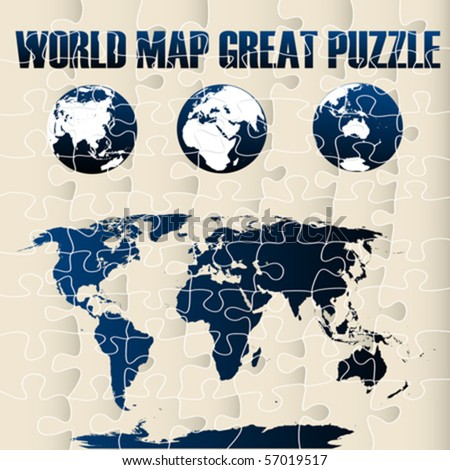 World map puzzle stock vector 57019517 shutterstock world map puzzle gumiabroncs Choice Image
