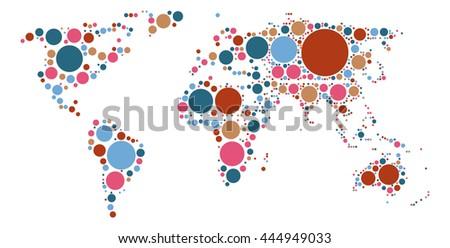 World Map Shape Vector Design By Stock Vector Shutterstock - World map shape