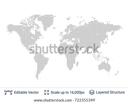 World map silhouettes continental shapes dots vector de world map silhouettes continental shapes of dots vector template easy to edit gumiabroncs Gallery